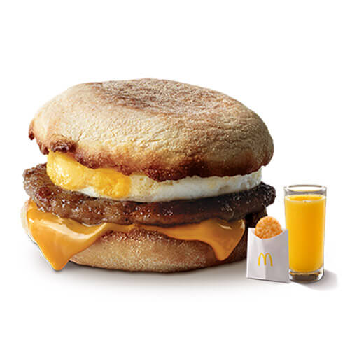 McMenu Sausage and Egg McMuffin